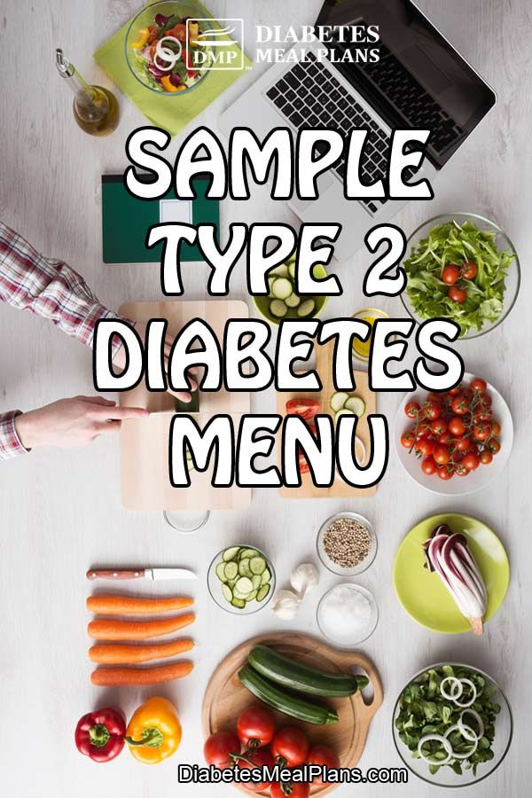 Sample Menu for Type 2 Diabetes