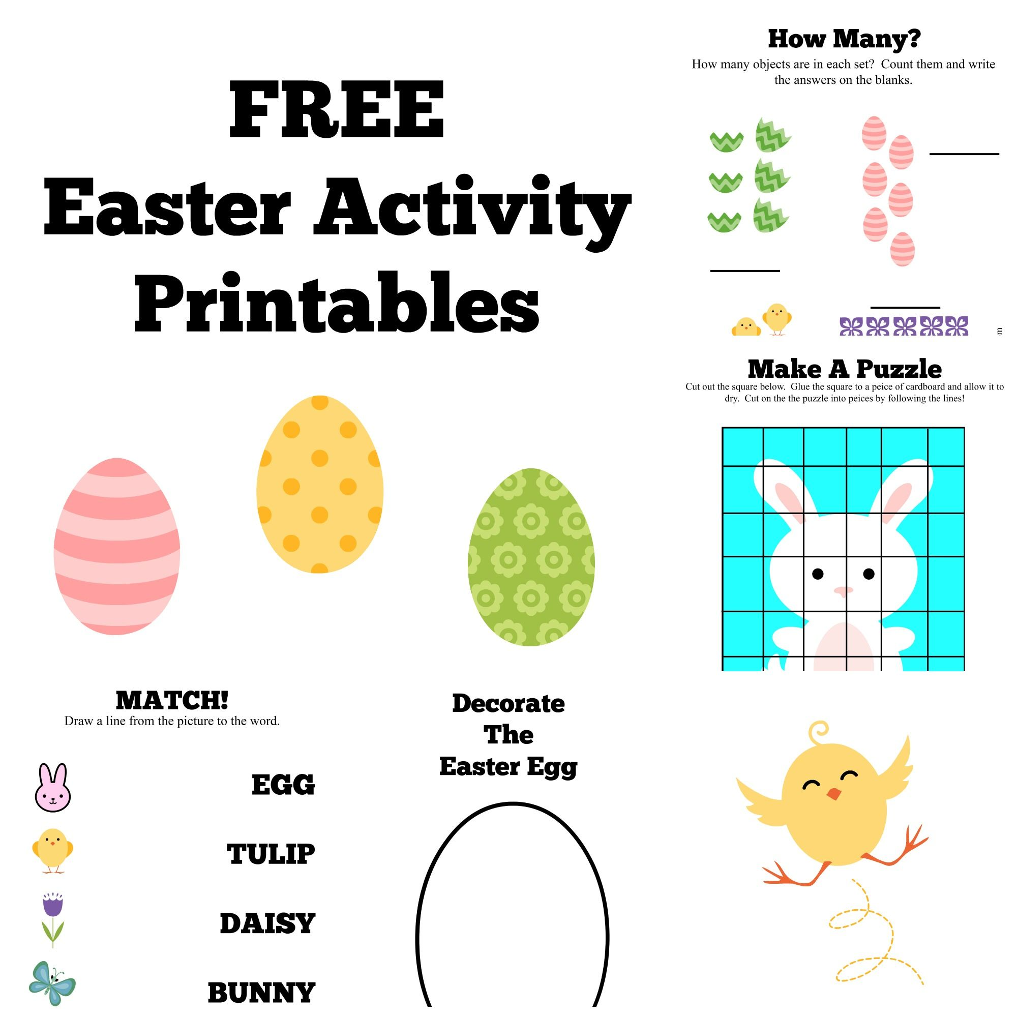 Free Easter Activity Printables Craft Amp Learn