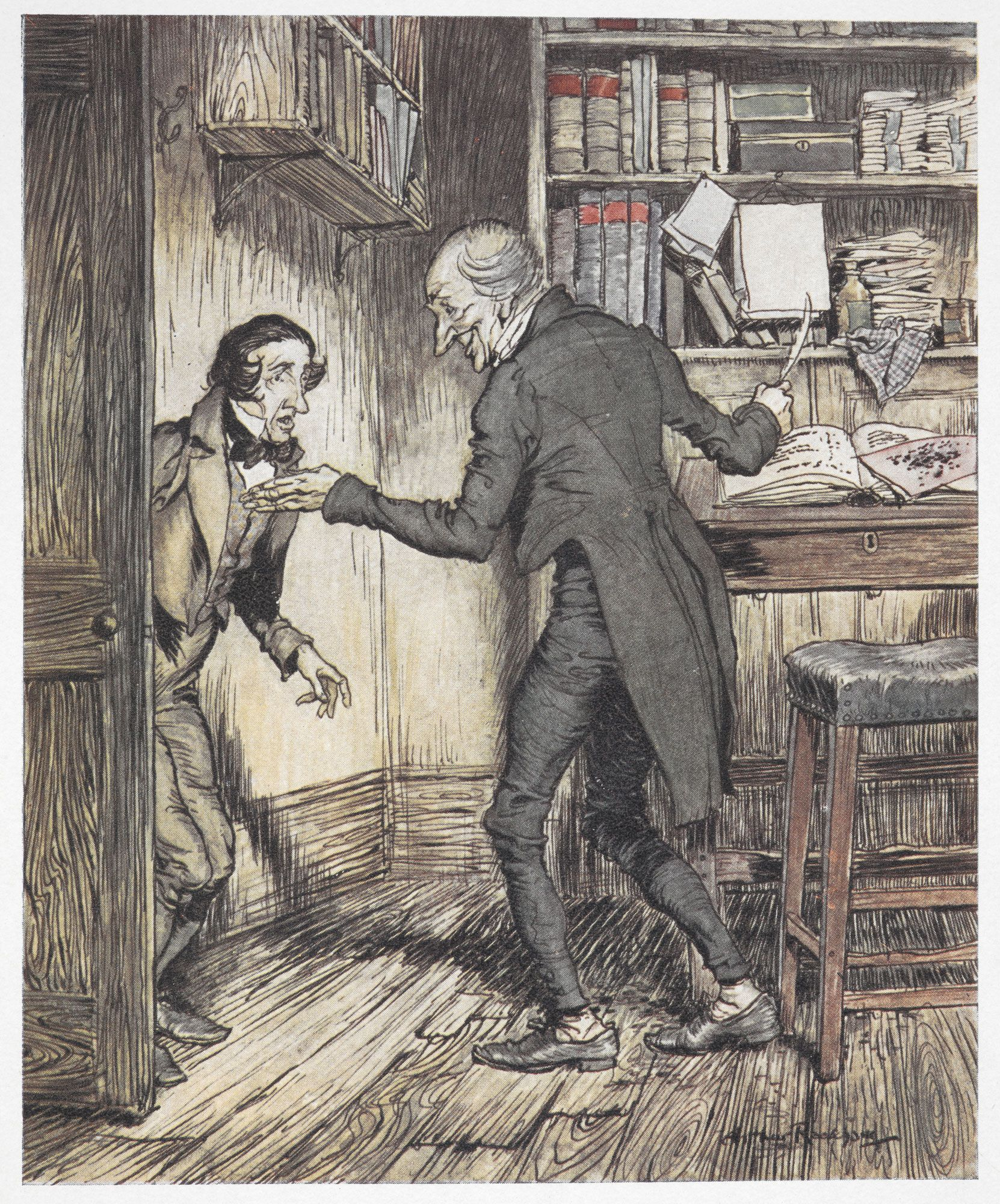 1000 Images About A Christmas Carol On Pinterest: A Christmas Carol Illustrated By Arthur Rackham, 1915