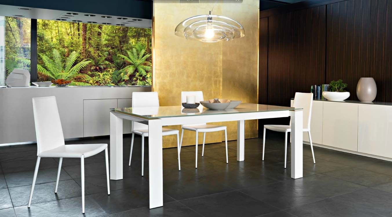 Italian Extendable Dining Table Calligaris Cs 4058 Lv 140 Omnia Glass Dining Table Italy This