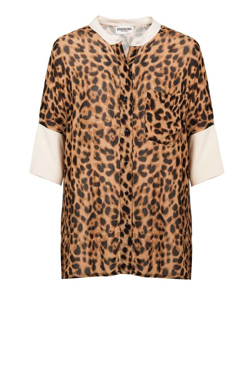 Oversized hemd met luipaardprint - Essentiel Antwerp Belgie f3d8704ef8