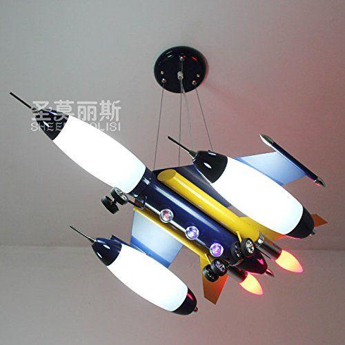 Fsd Kinder Cartoon Deckenleuchte Blaue Flugzeuge Kronleuchtern - led lampen schlafzimmer