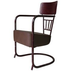 Unusual Bauhaus Tubular Metal Chair, France, 1930s | From A Unique  Collection Of Antique