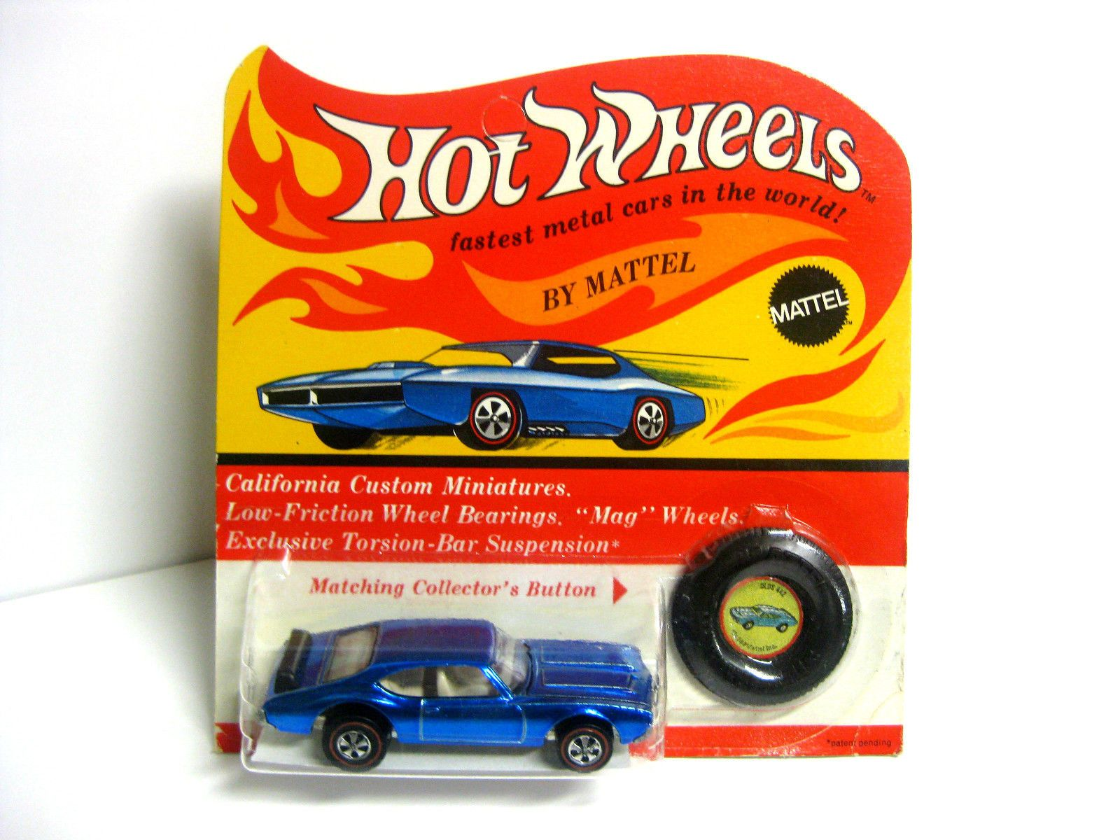 Hot Wheels 1970 Olds 442 Spectraflame Blue MIP released in
