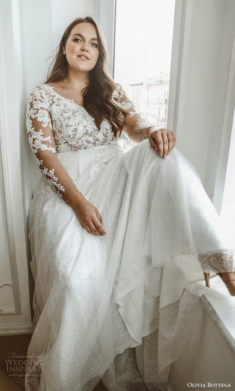 Olivia Bottega 2021 Plus Size Wedding Dresses Wedding Inspirasi Plus Wedding Dresses Wedding Dresses Wedding Dress Long Sleeve [ 1500 x 900 Pixel ]
