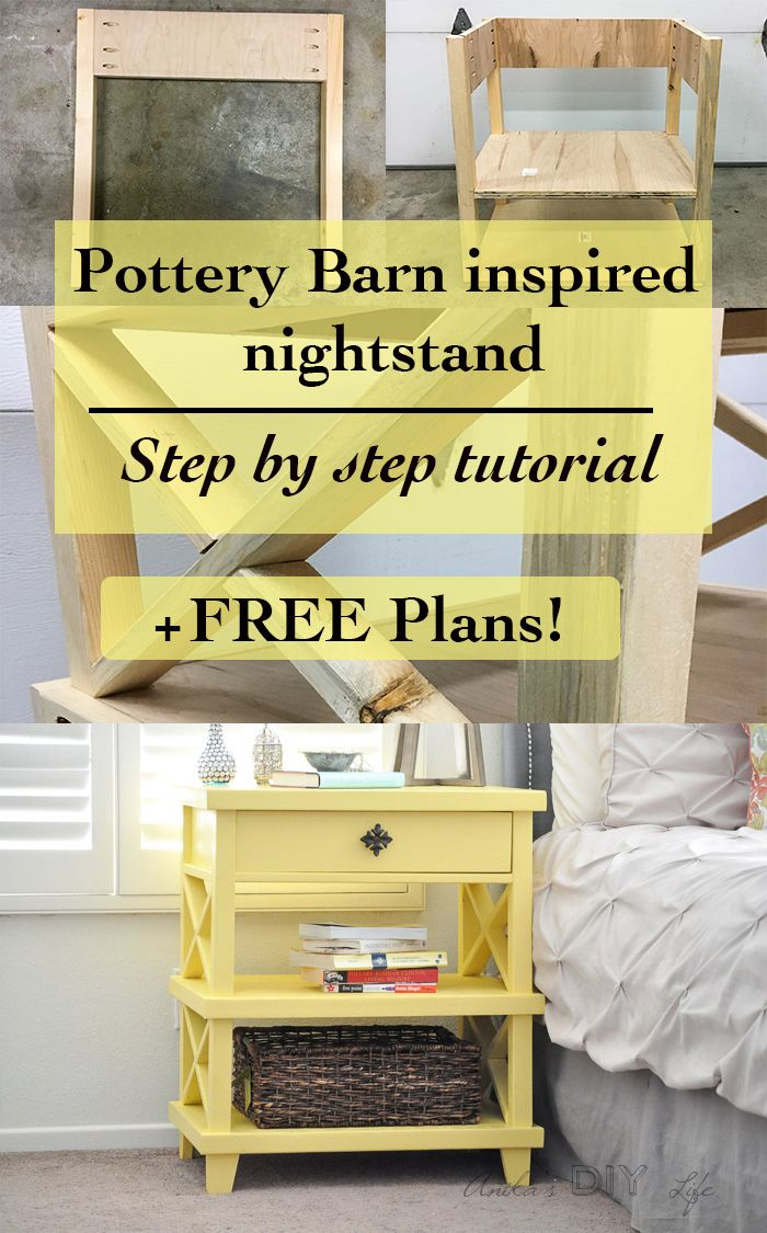diy pottery barn inspired nightstand free plans diy furniture rh pinterest com