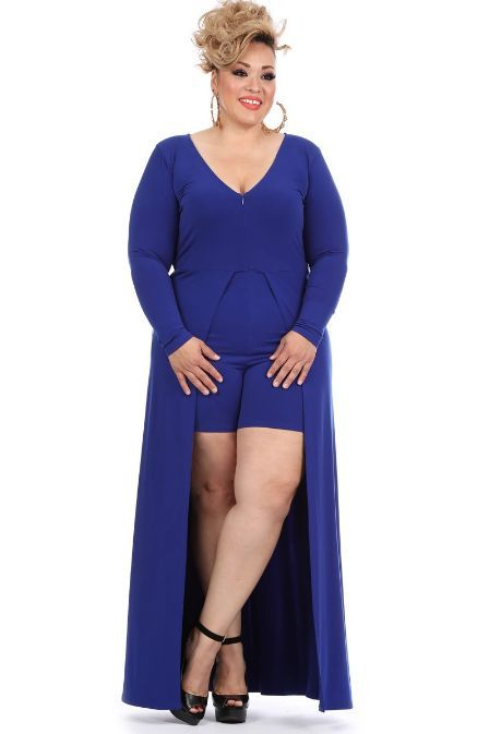 ccfaac3f5c9 Description - Plus size 3/4 sleeve maxi dress with a crew neck, a waist tie  and side pocket detailing - 95% Polyester 5% Spandex - Fabric is very  stretchy ...
