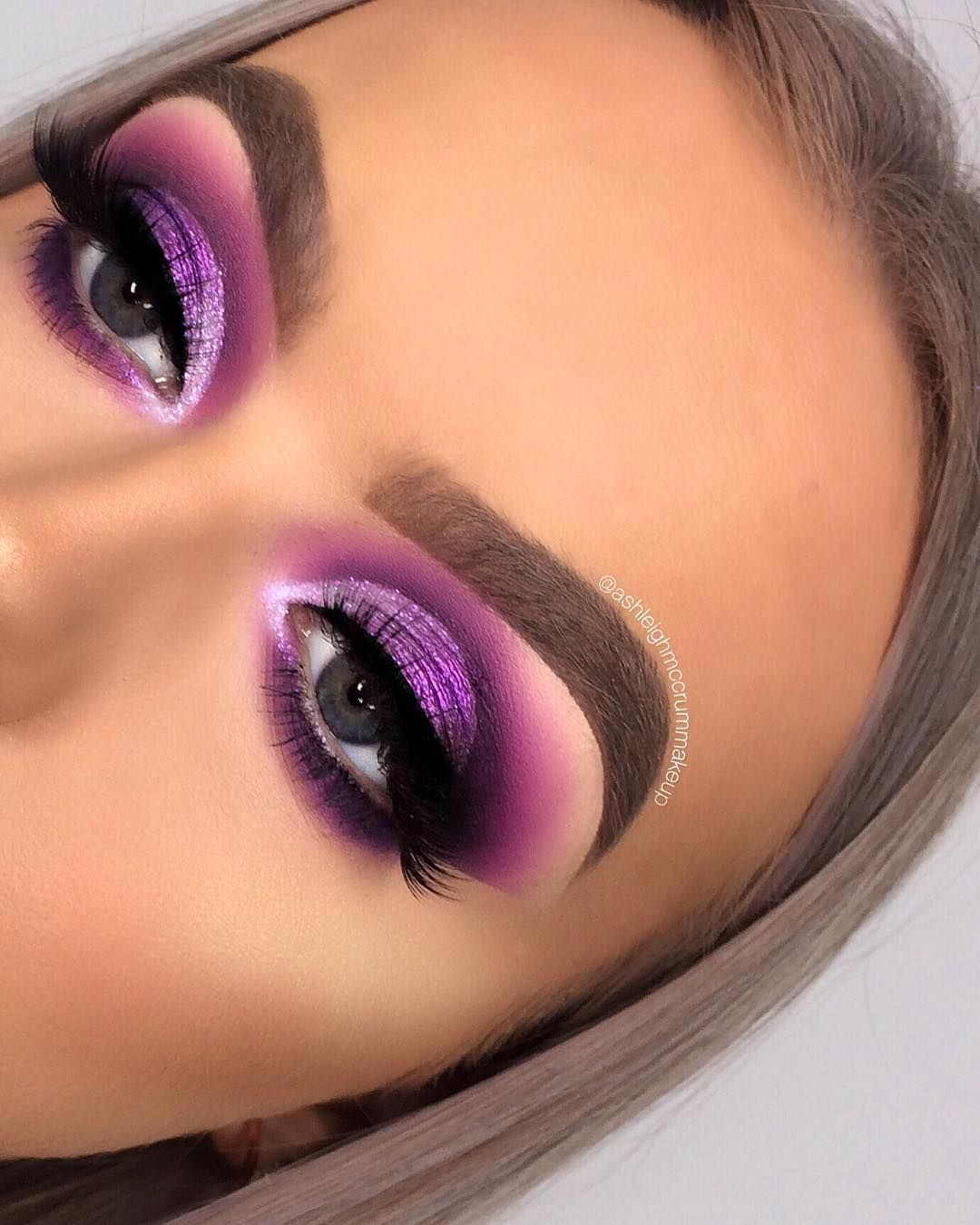 """🌻 ASHLEIGH MCCRUM on Instagram: """"👋🏼 just me again 🙊😋 so happy with how this look turned out! 😍 love working with purples 💜🍇 Also... I filmed this look! Would you guys want…"""""""