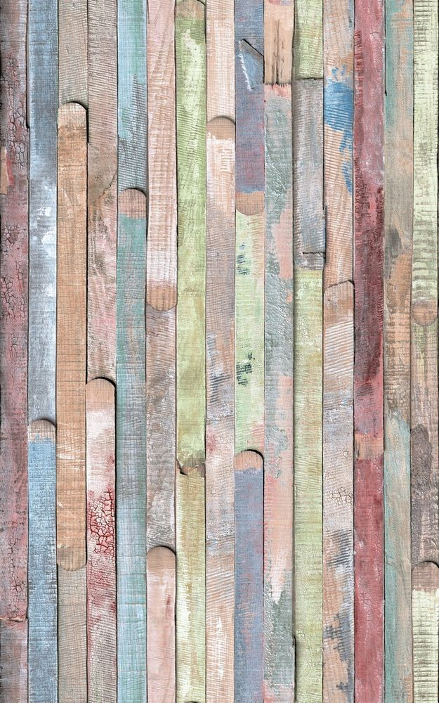 Self Adhesive Contact Paper Wood Color Woodblock Print Multicolor