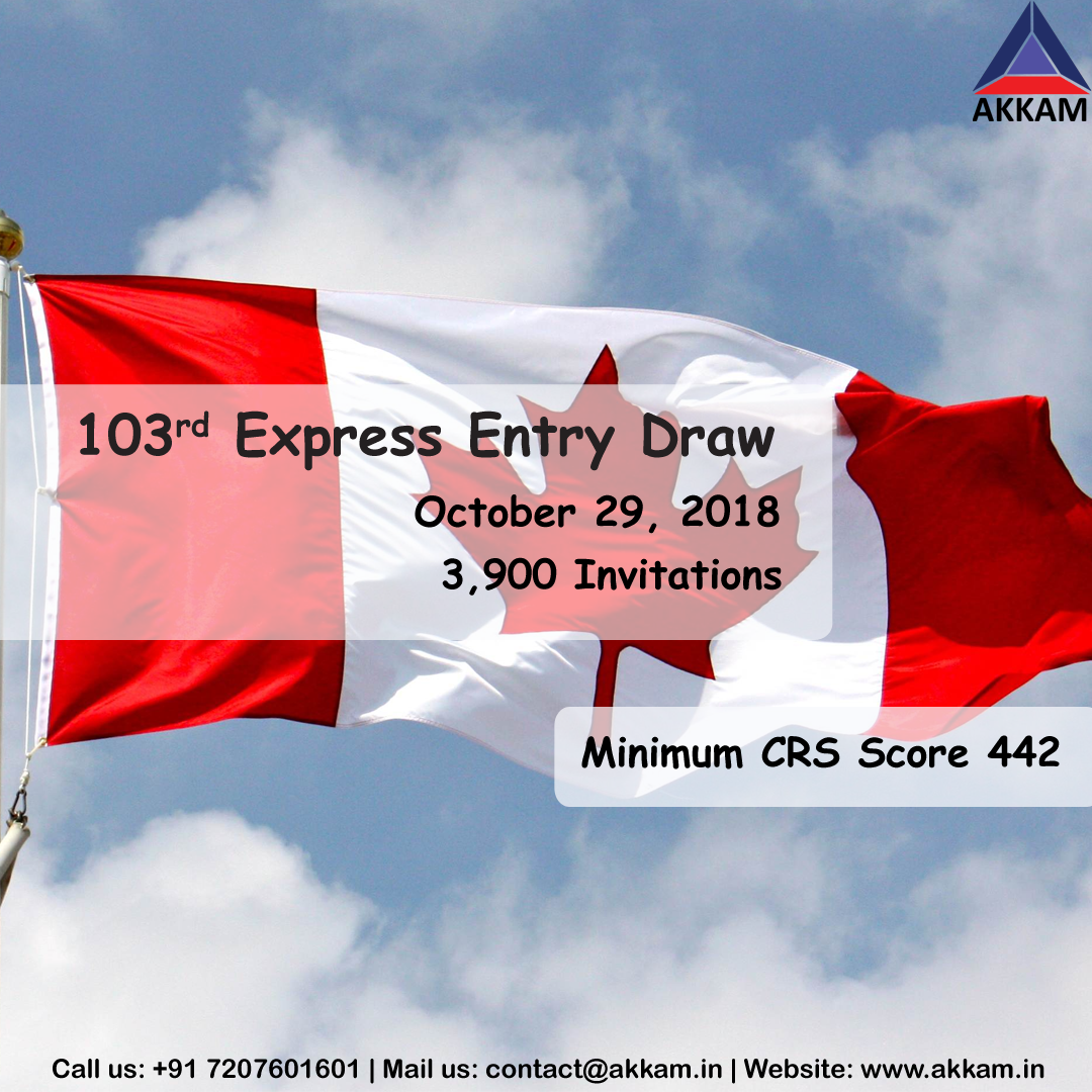 Express Entry Draw #103 Issued 3,900 Invitations – Cut off