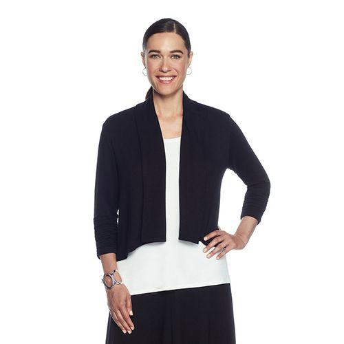 Womens Solid Knit Cardigan with Shawl Collar Ruby Rd