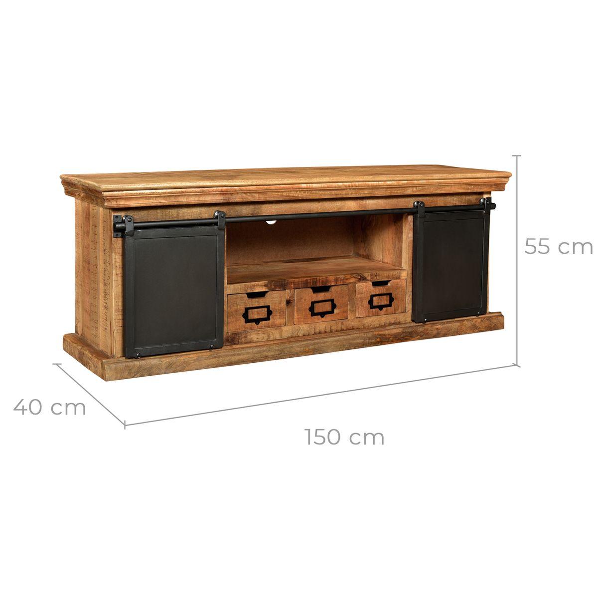 Meuble Tv Tabuk En Bois De Manguier Mobilier De Salon Deco Bois Et Meuble Tv Bois