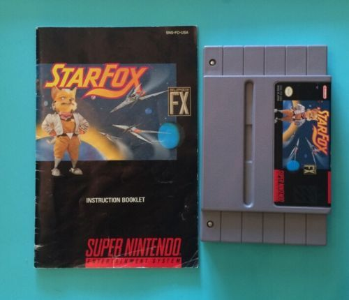 Star Fox (Nintendo SNES, 1993) w/ Manual - Tested & Working!!