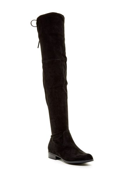 Image of Catherine Catherine Malandrino Morcha Faux Fur Footbed Over-The-Knee Boot