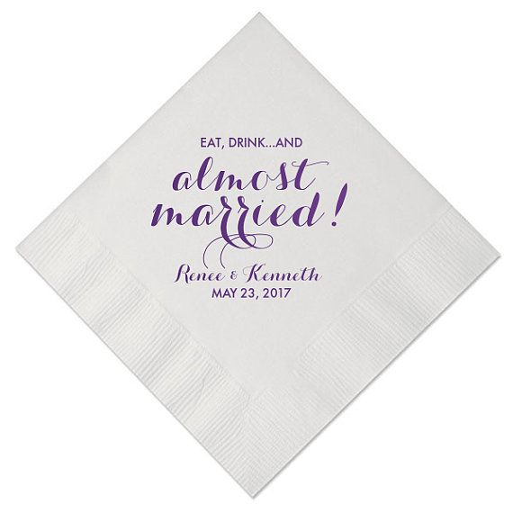 100 Personalized Wedding Napkins Beverage By Memorablewedding