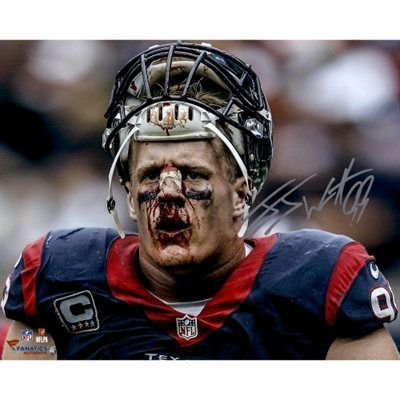 J.J. Watt Houston Texans Autographed 16'' x 20'' Broken Nose Photograph. So want to get this!!!