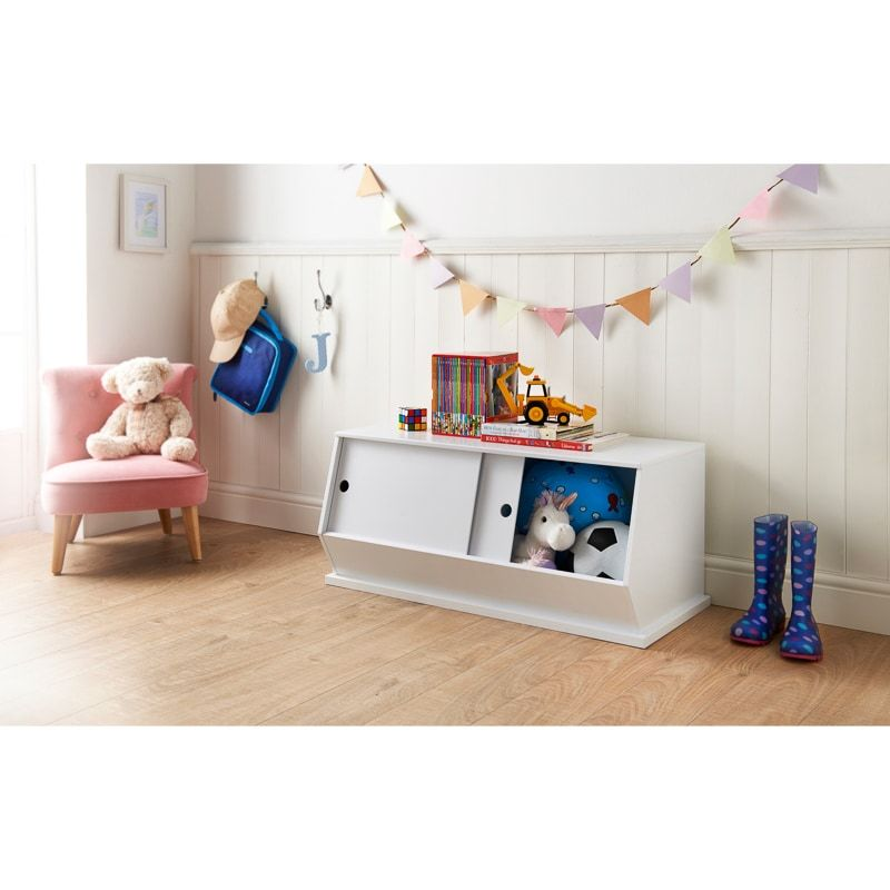 Mobel Toy Storage Cabinet With Sliding Doors This Spacious Wooden Storage Unit Is Perfect For Kids Bedrooms And Play R Kids Furniture Kids Bedroom Toy Storage