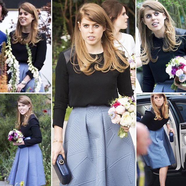 Princess Beatrice looking lovely today. #RHSChelsea #5000poppies