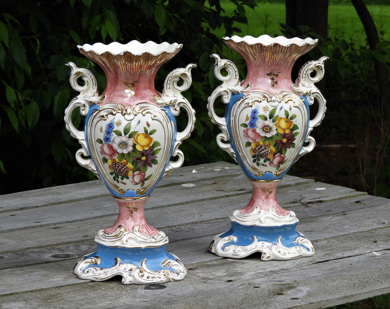 Vintage Italian Vases 2 Victorian