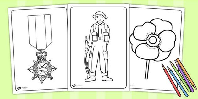 anzac soldier coloring pages - photo#26