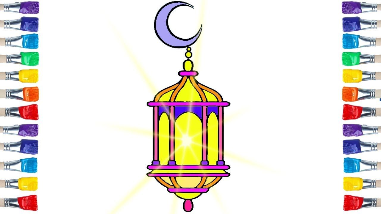 How To Draw A Lantern Drawing And Colouring For Kids Lantern Drawing Lanterns Drawings