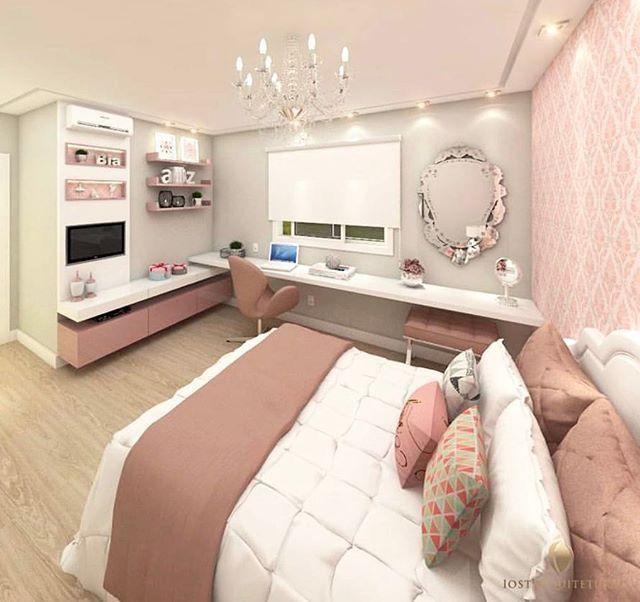 Perfect Shelvingdeskvanity Set Up Rose GoldGrey Room Inspo In Fascinating Decoration Ideas For Bedrooms Teenage Set Property