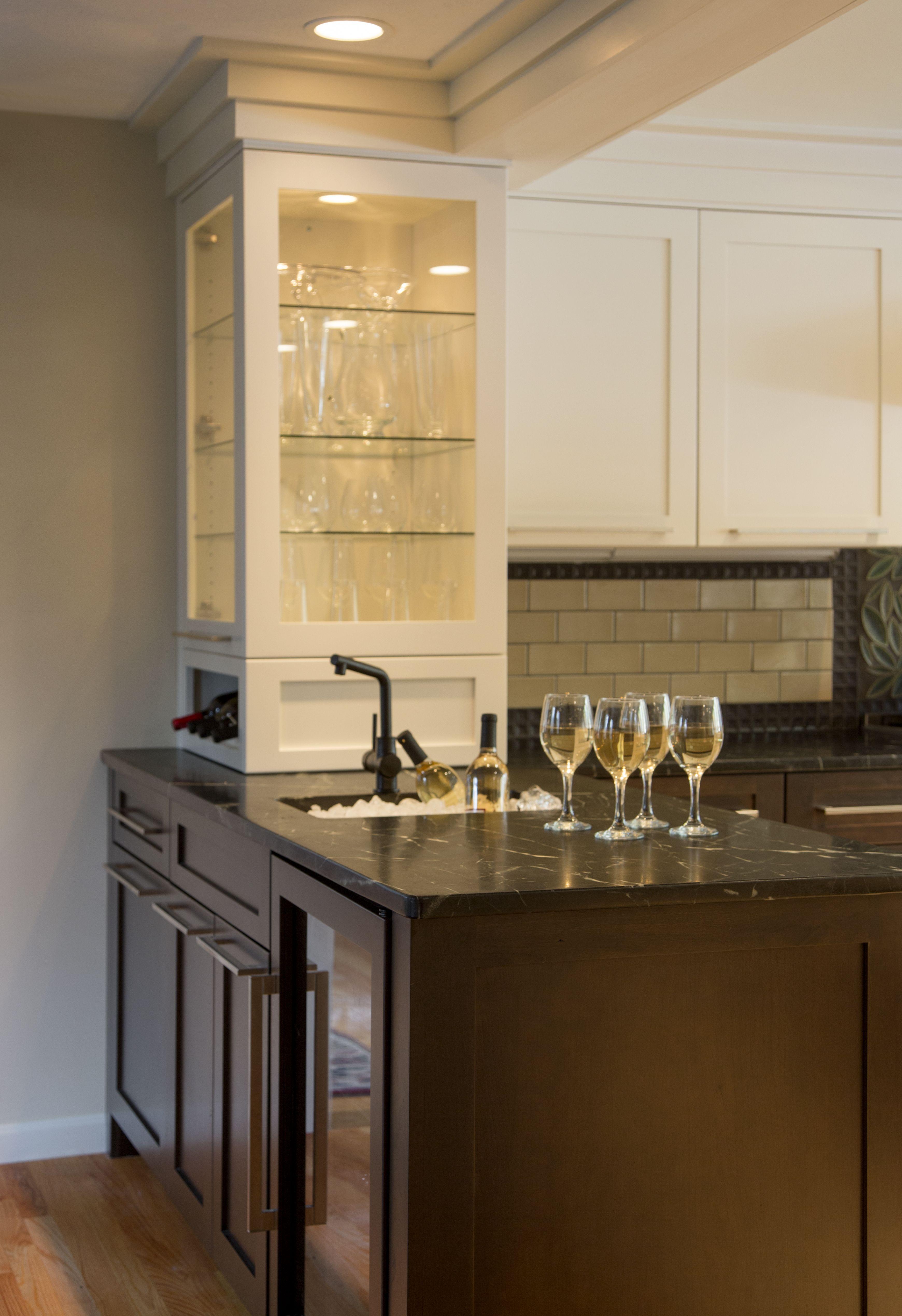 beverage center with bar sink. | beverage centers designed by