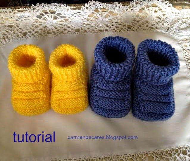 carmenbecares.blogspot.com: PATUCOS BEBE. BABY BOOTIES ( dos agujas ...