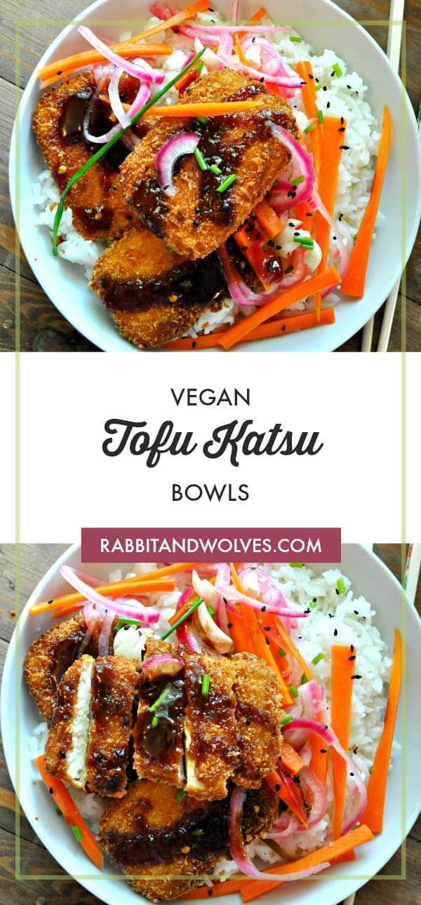 Vegan Tofu Katsu Bowls - Rabbit and Wolves #dishesfordinner