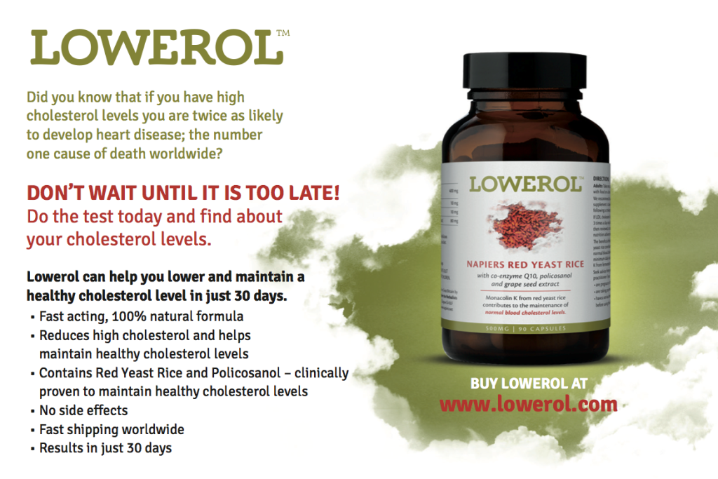 Lowerol Review Cholesterol Lowering Supplement DietFad