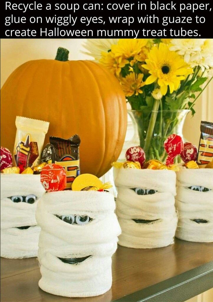 Halloween Treat Ideas For Coworkers : halloween, treat, ideas, coworkers, Halloween, Treats, Party, Favors,, Mummy, Candy,