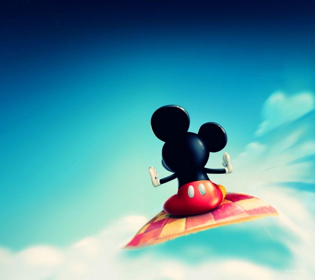 Mickey auf\'m fliegenden Teppich ☺   Disney usw ...