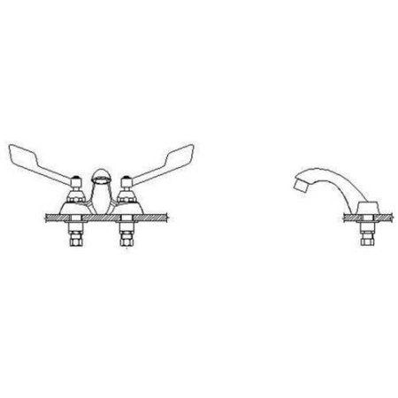 Delta 21C355 Commercial Double Handle Lavatory Faucet with Vandal Resistant Wrist Blade Handles, Chrome