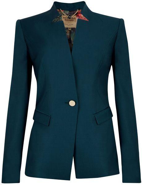 c1a7903f9 Yaffa Shiny Lavanta Suit Blazer - Lyst