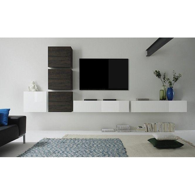Design tv wandmeubel lemvig moderne kasten kasten for Tv wohnwand design