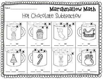 Christmas Addition And Subtraction Marshmallow Math Great For Polar Express Christmas Addition Holiday Math Christmas Kindergarten