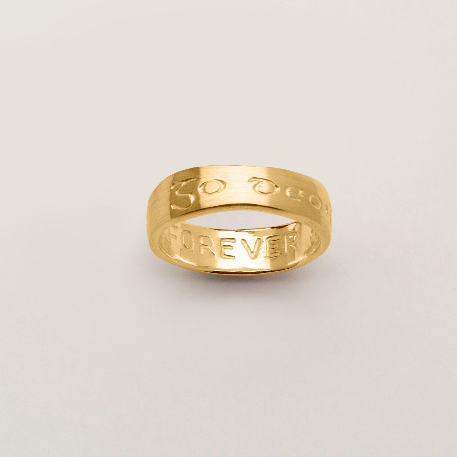 forever 'go deoid' ring - an irish take on traditional wedding bands