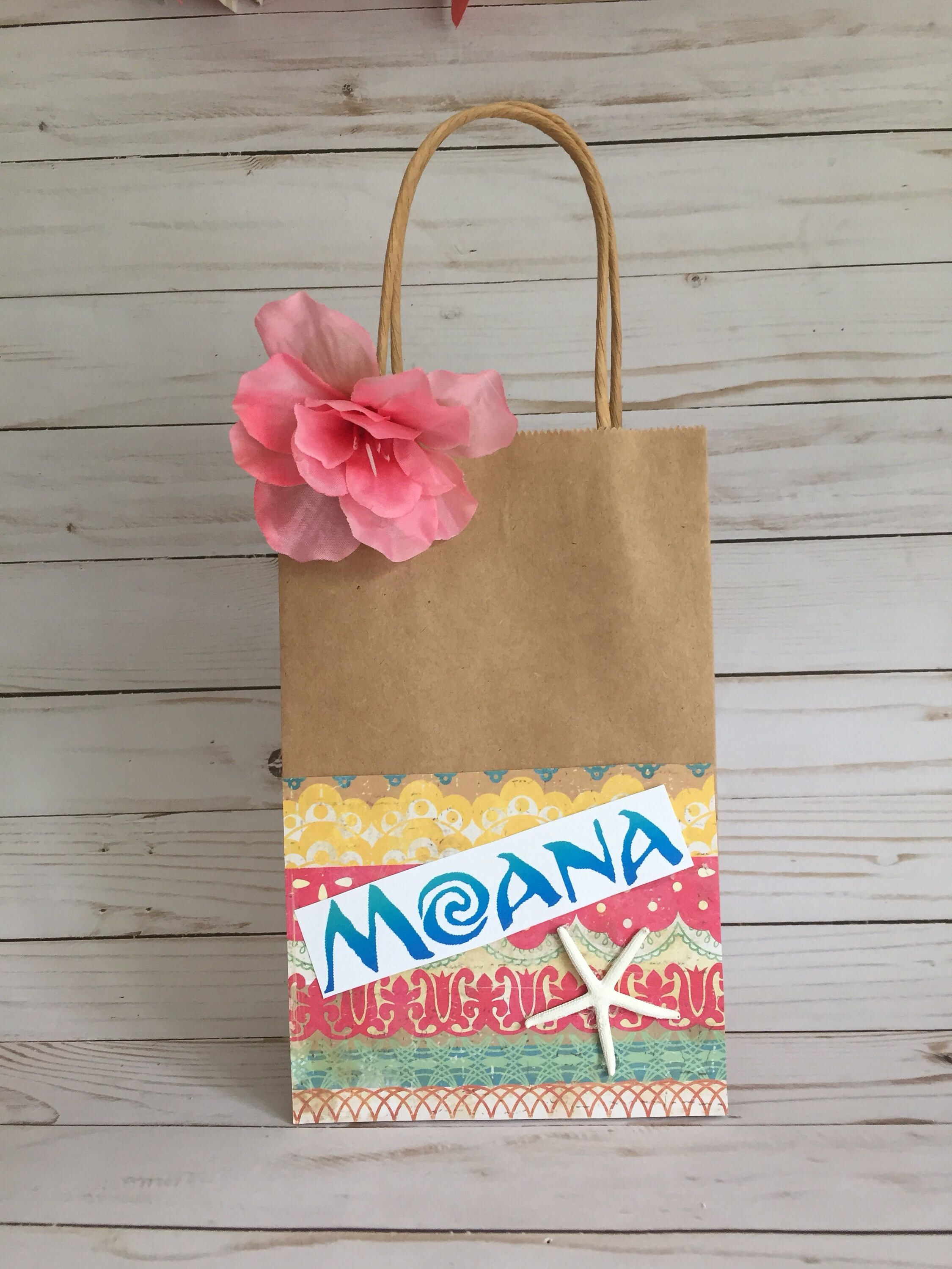 Excited To Share The Latest Addition My Etsy Shop Moana Favor Bag Party Gift Birthday Baby