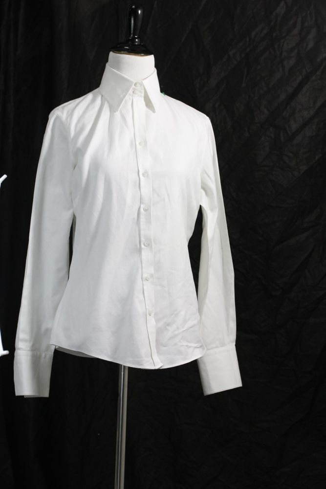 Hawes & Curtis Women's White Button Down Semi Fitted Blouse #HawesCurtis #ButtonDownShirt #Casual