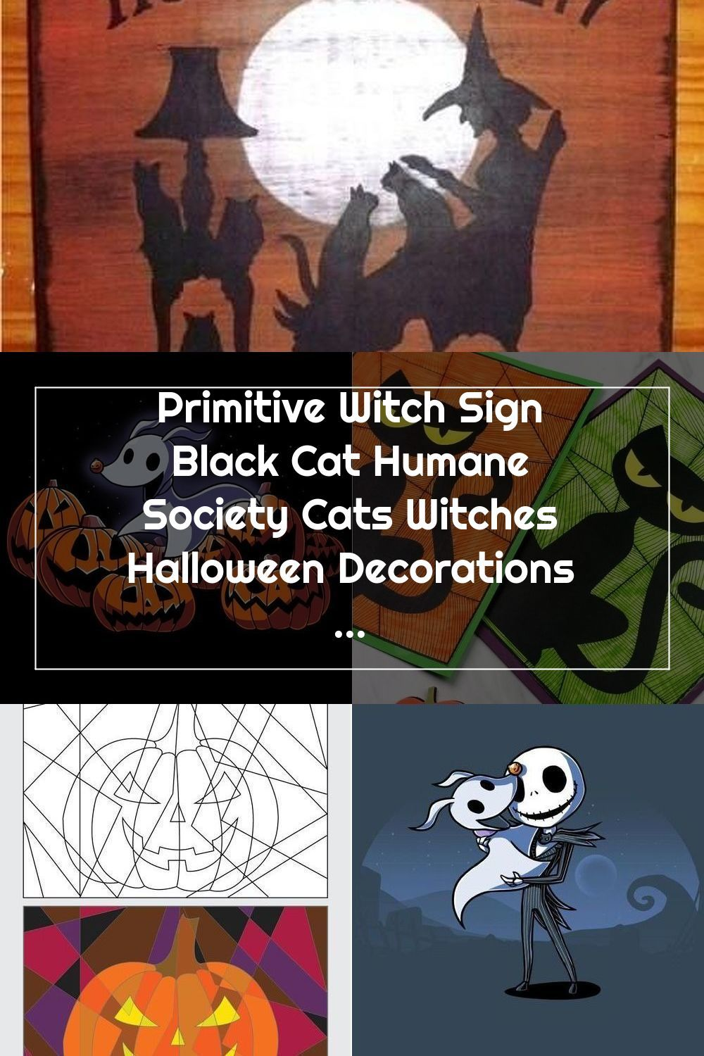 Halloween Humane Society 2020 Primitive Witch Sign Black Cat Humane Society Cats Witches