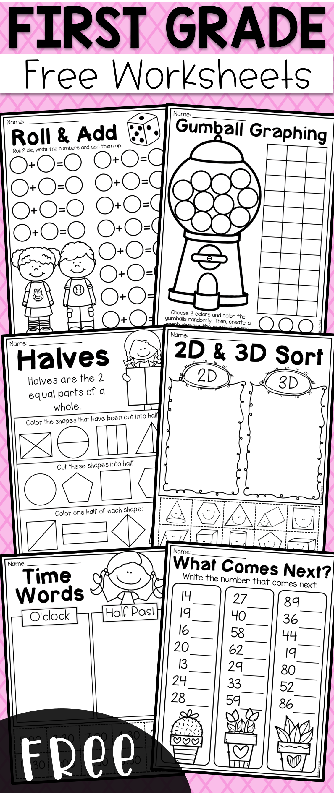 Free First Grade Math Worksheets It Provides Students With Practice In Addition Place Val First Grade Math Worksheets First Grade Worksheets First Grade Math