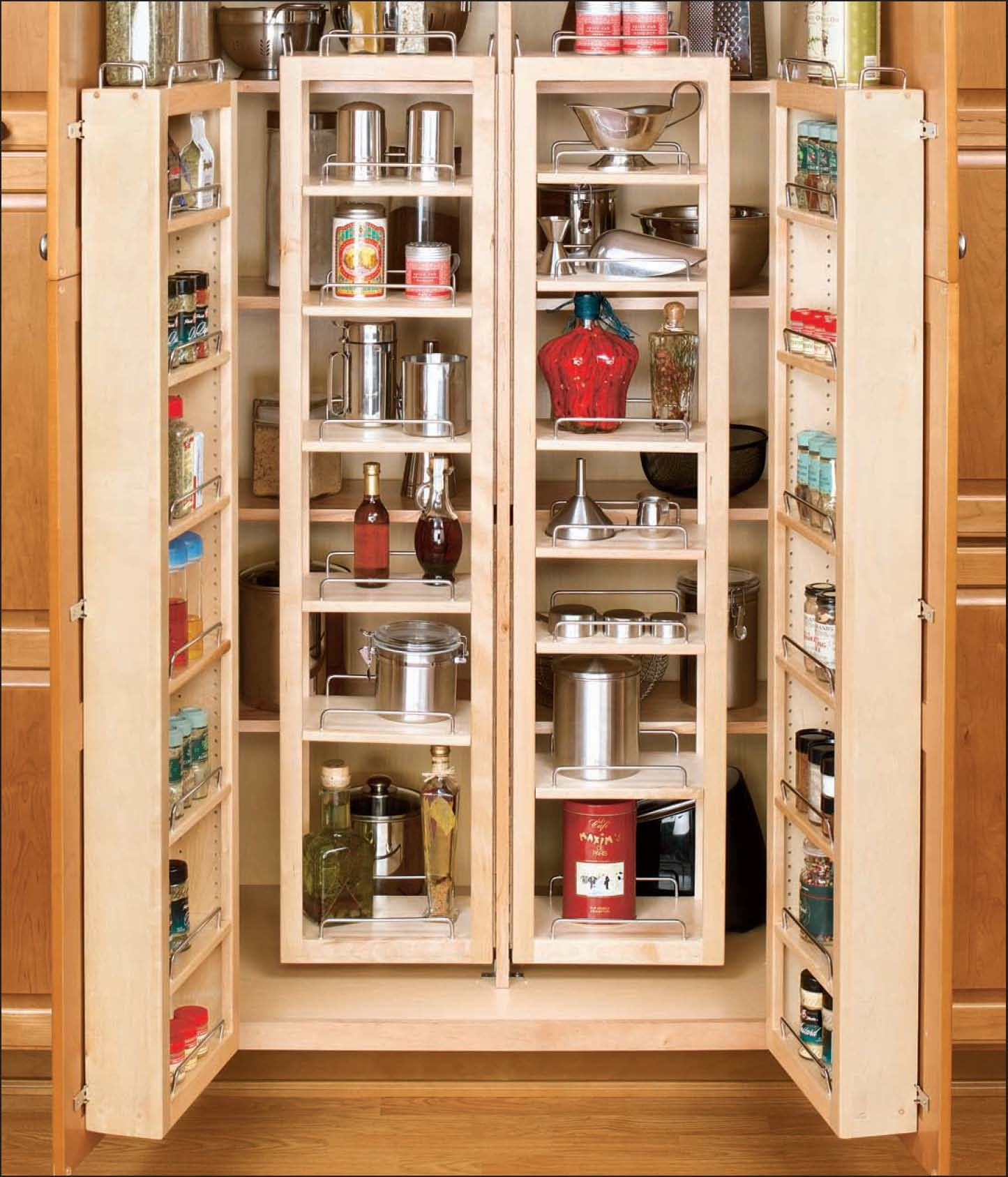 Custom Kitchen Cabinet Accessories: Cabinetry Accessories Tall Cabinet Pantry