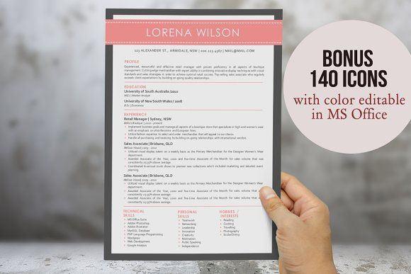 3 in 1 simple banner Word resume by Inkpower on @mywpthemes_xyz