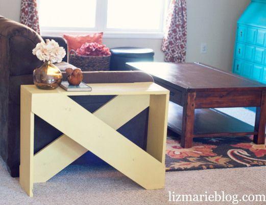 DIY 5 board end table...cute!