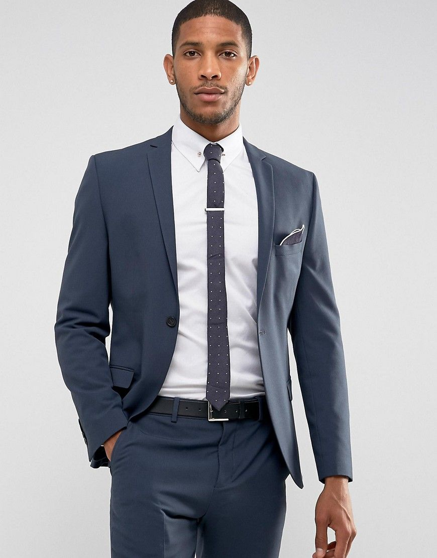 26918bdacd40 Selected Homme Super Skinny Suit Jacket In Stretch In Navy in 2019 ...