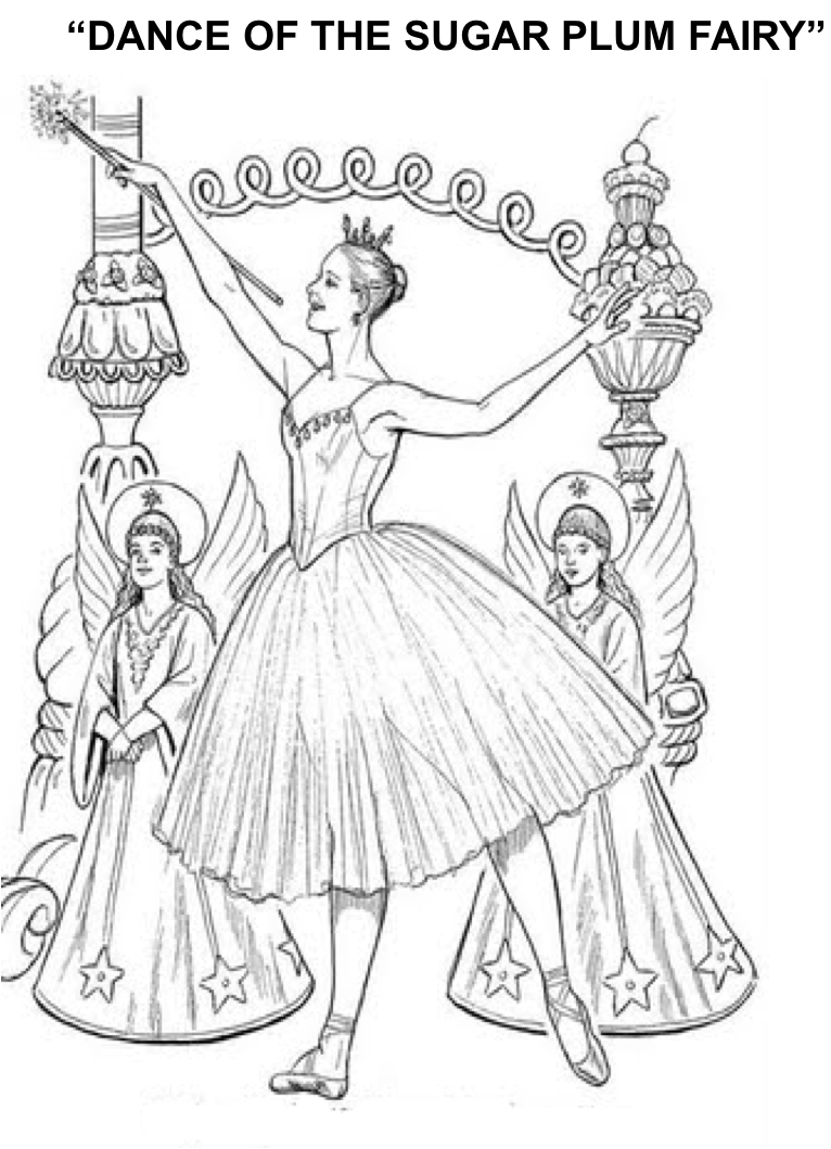 1st grade nutcracker lesson includes two coloring pages for Nutcracker ballet coloring pages