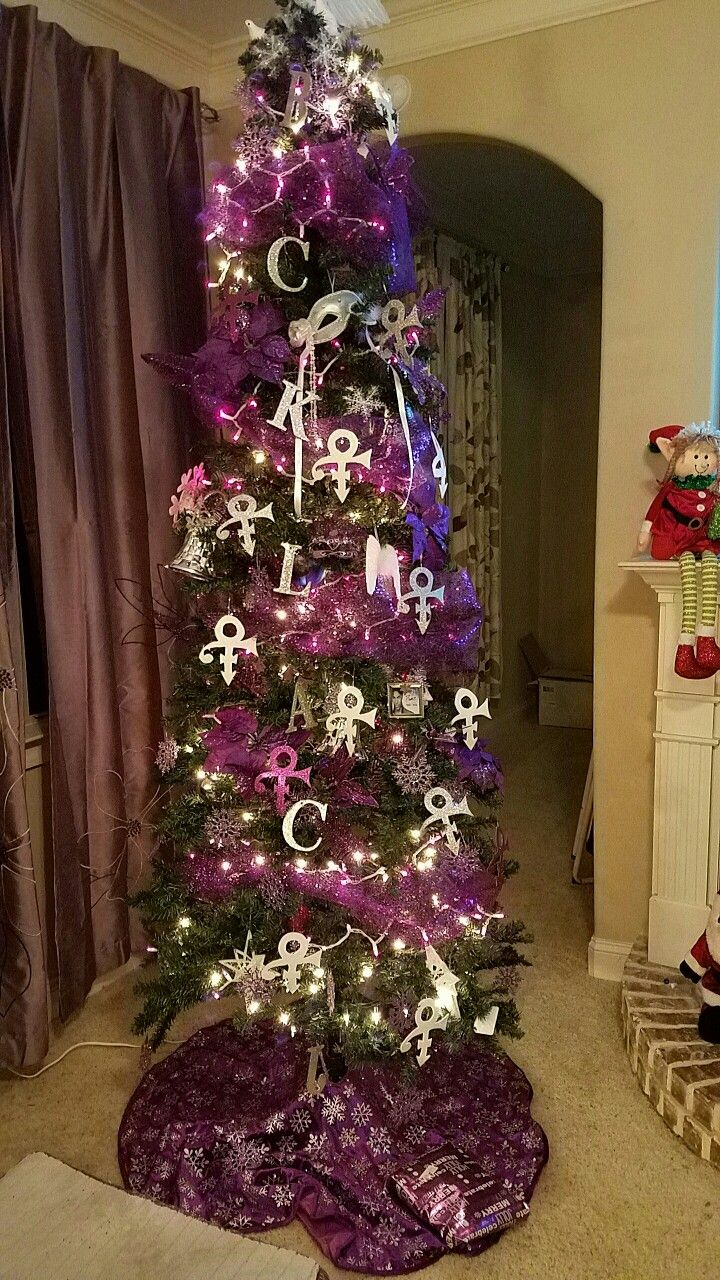 Prince Christmas Decorations.Very Creative Love It Christmas Trees In 2019 Purple