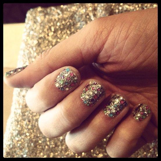 1 Trend 4 Ways: Rhinestone Nails (Shiny! Festive! Rhinestone-y!)