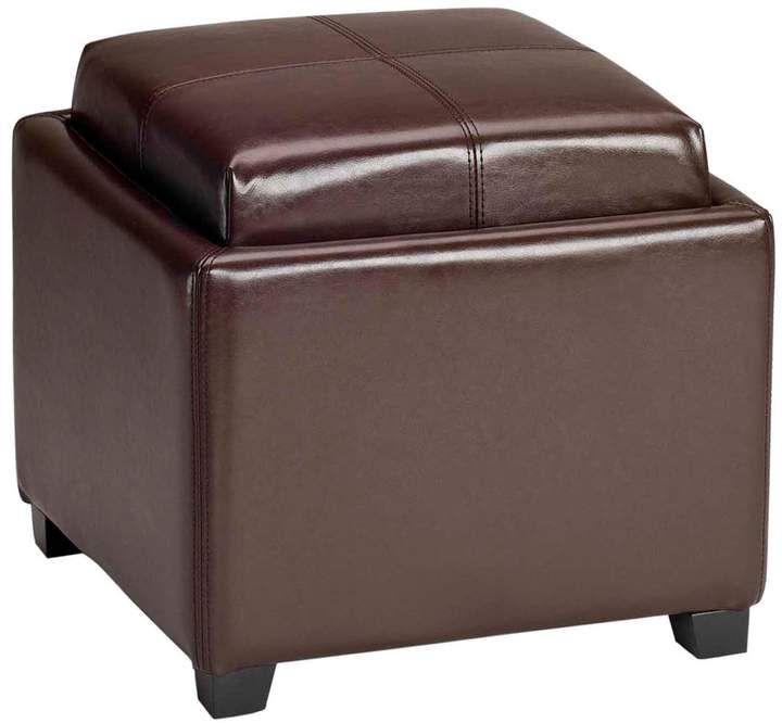 Ottomans Lifestyle Single Ottoman: Safavieh Bennett Single Tray Storage Ottoman