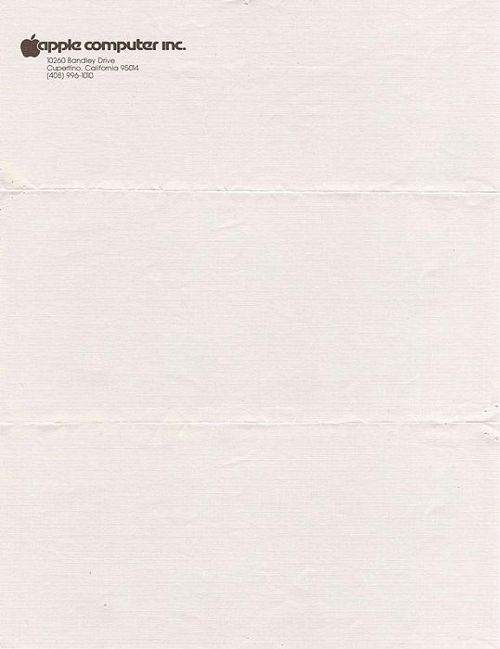 Steve Jobs Letterhead   Graphic Design    Steve